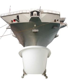 Battleship in a Bathtub
